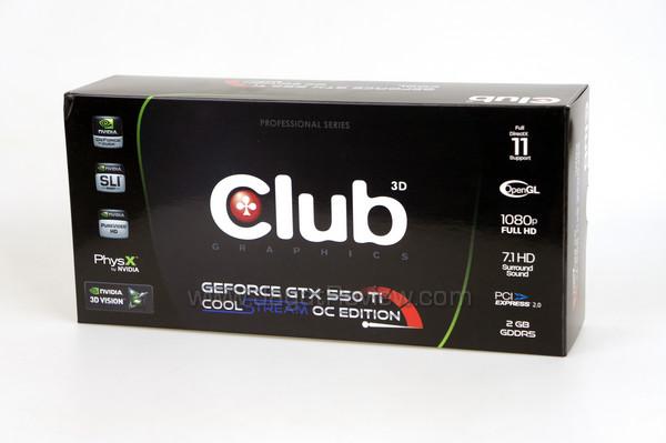 club3d gtx 550 ti 2gb front