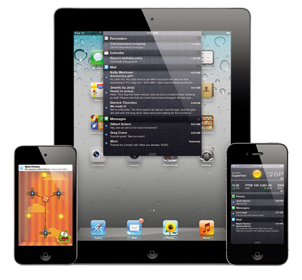 NotificationCenter iPodTouch iPad iPhone4s ios5