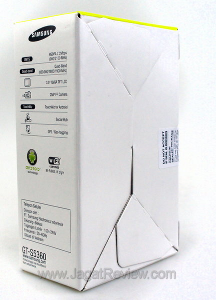 Samsung Galaxy Y Kemasan Belakang
