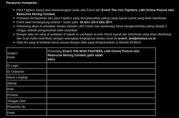 Peraturan event Law1