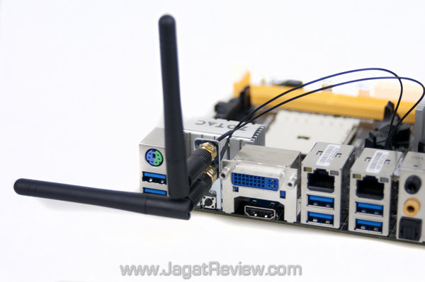 zotac a75 itx wifi jagatreview Board Backplate AntennaAttached