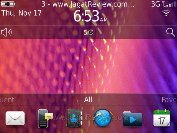 Blackberry Bold 9900 Homescreen