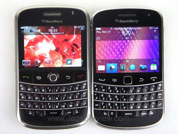 Blackberry Bold 9900 Perbandingan Depan