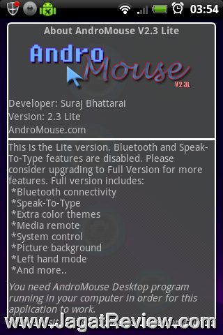 Review Android Apps – Andro Mouse and Keyboard: Presentasi