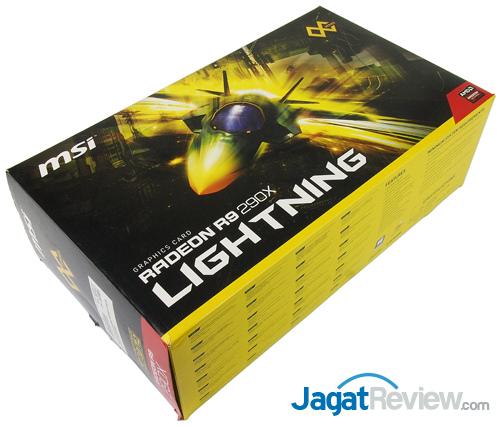 msi r9 290x lightning front box
