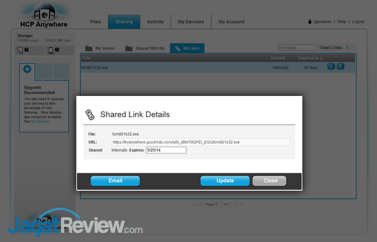 HCP Anywhere - File Sharing