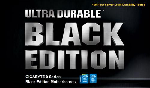 gigabyte computex 2014 ultra durable black logo