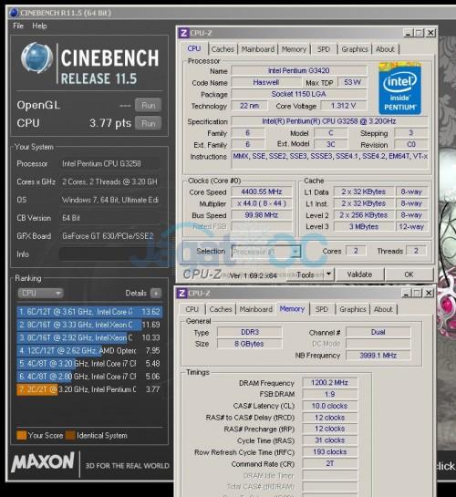 Teaser: Prosesor Intel Pentium G3258 berjalan di 4400 Mhz