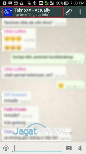 Whatsapp - Tap Group Name to Info