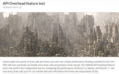 3DMark API Overhead Test