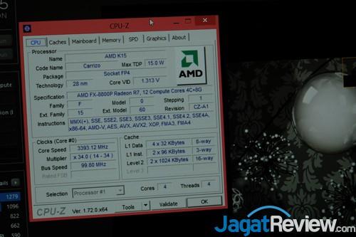 Load Full 4-core dari Cinebench R15, masih 3.4Ghz