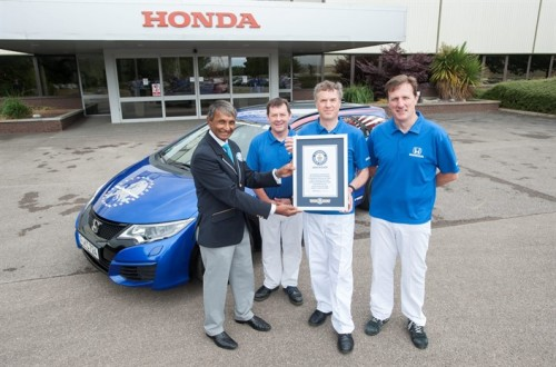 Honda sets new GUINNESS WORLD RECORDS(TM) title for fuel efficiency