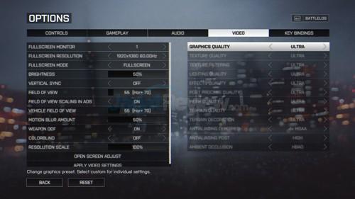 Battlefield 4 Setting Ultra