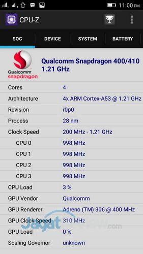 Lenovo S60 - CPUZ CPU