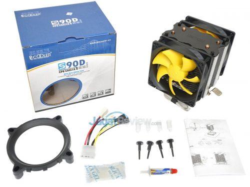 PCCooler S90D kelengkapan