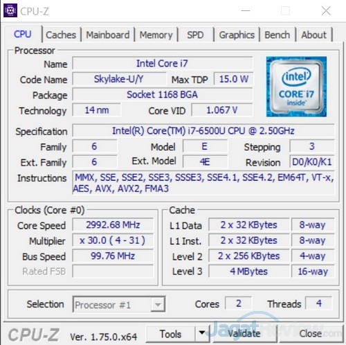 CPUZ Prosesor