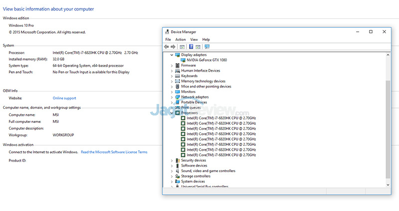 NVIDIA GTX 1080 (Notebook) Sys Info
