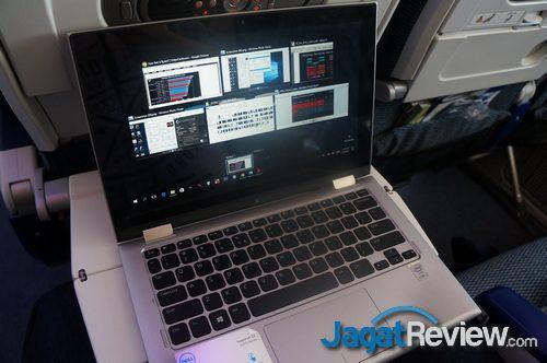 Menulis artikel saat masih di pesawat karena pendeknya jarak antara pengujian dengan NDA release date