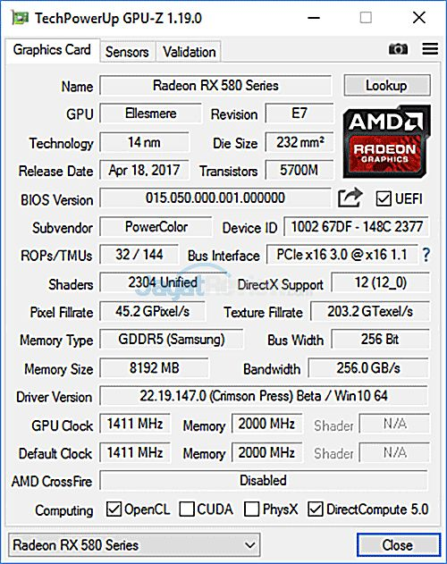 Review Graphics Card: Powercolor Red Devil RX 580 8GB GDDR5 Golden