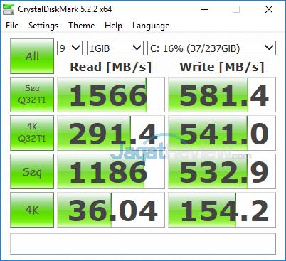 Acer Swift 3 SF314 52G Crystal Disk Mark
