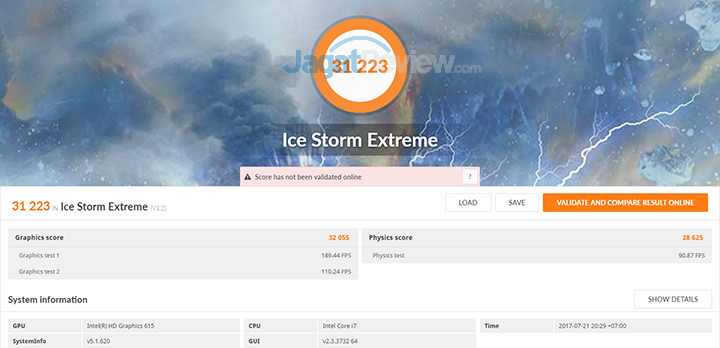 DELL XPS 13 9365 2-in-1 3DMark Ice Storm Extreme