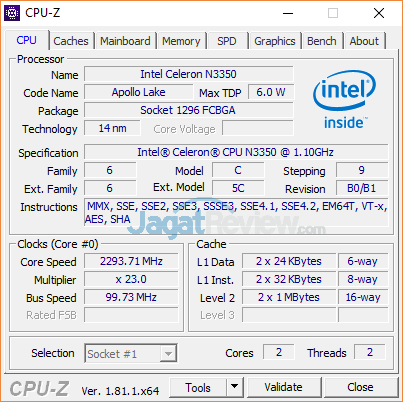 Lenovo IdeaPad 120S CPUZ 01