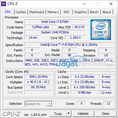 Gigabyte Aero 15X v8 CPUZ 01