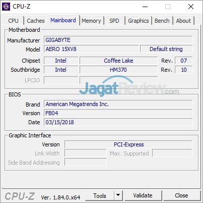 Gigabyte Aero 15X v8 CPUZ 02