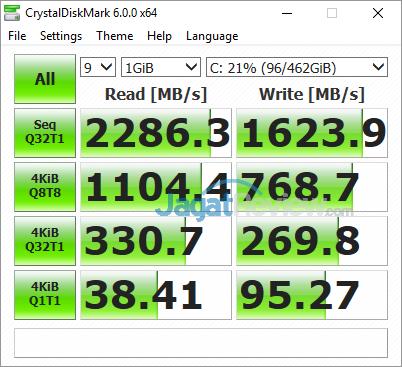 Gigabyte Aero 15X v8 Crystal Disk Mark 6