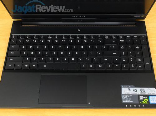 Gigabyte Aero 15X v8 Keyboard Touchpad