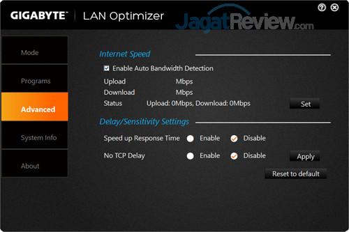 Gigabyte Aero 15X v8 LAN Optimizer 03