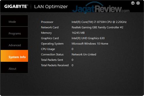 Gigabyte Aero 15X v8 LAN Optimizer 04