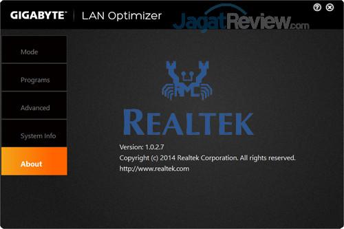 Gigabyte Aero 15X v8 LAN Optimizer 05