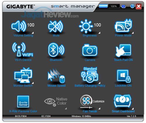 Gigabyte Aero 15X v8 Smart Manager 01