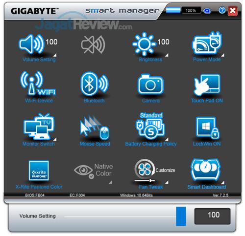 Gigabyte Aero 15X v8 Smart Manager 02