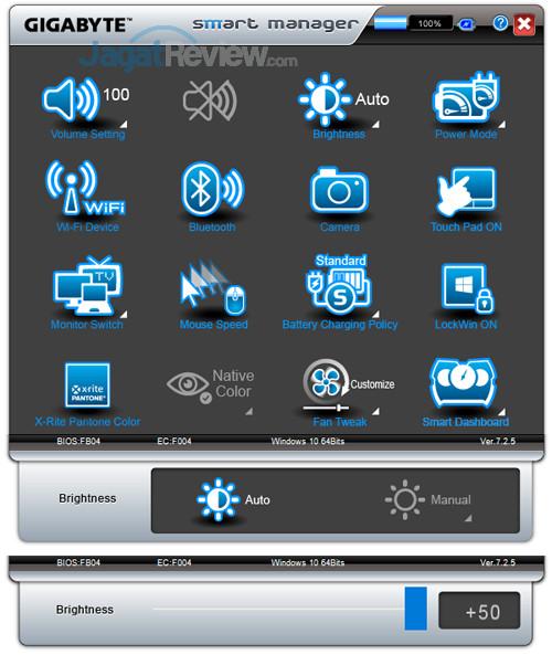 Gigabyte Aero 15X v8 Smart Manager 03