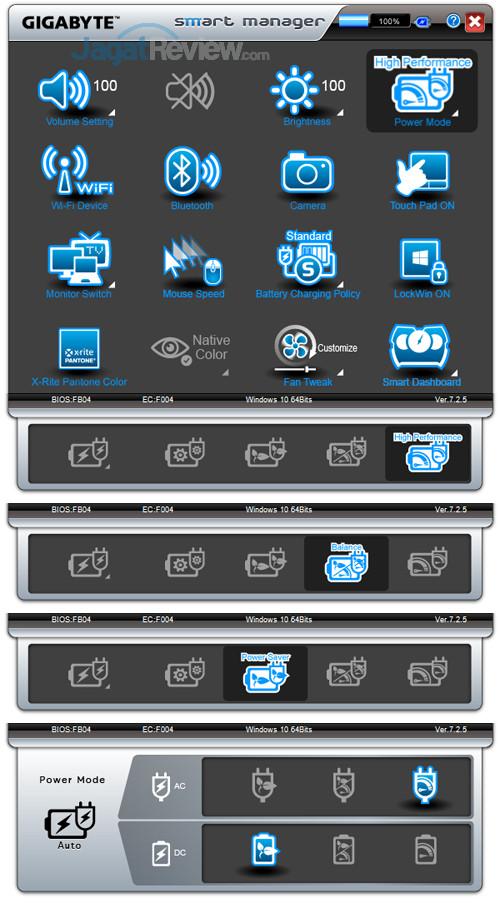 Gigabyte Aero 15X v8 Smart Manager 05