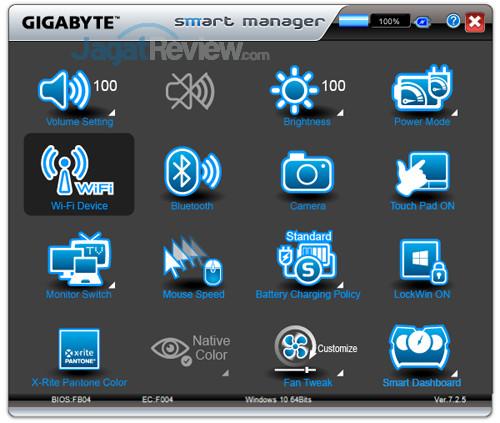 Gigabyte Aero 15X v8 Smart Manager 06