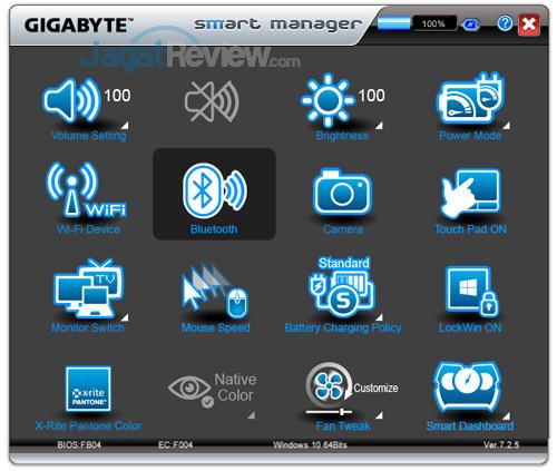 Gigabyte Aero 15X v8 Smart Manager 07