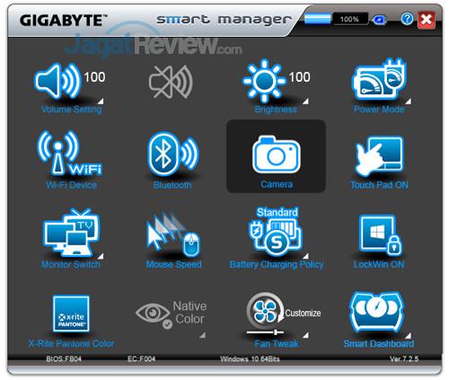 Gigabyte Aero 15X v8 Smart Manager 08