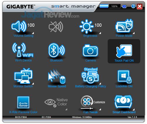 Gigabyte Aero 15X v8 Smart Manager 09