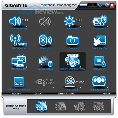 Gigabyte Aero 15X v8 Smart Manager 12