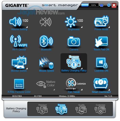 Gigabyte Aero 15X v8 Smart Manager 13