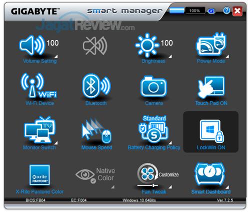 Gigabyte Aero 15X v8 Smart Manager 16