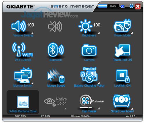 Gigabyte Aero 15X v8 Smart Manager 17