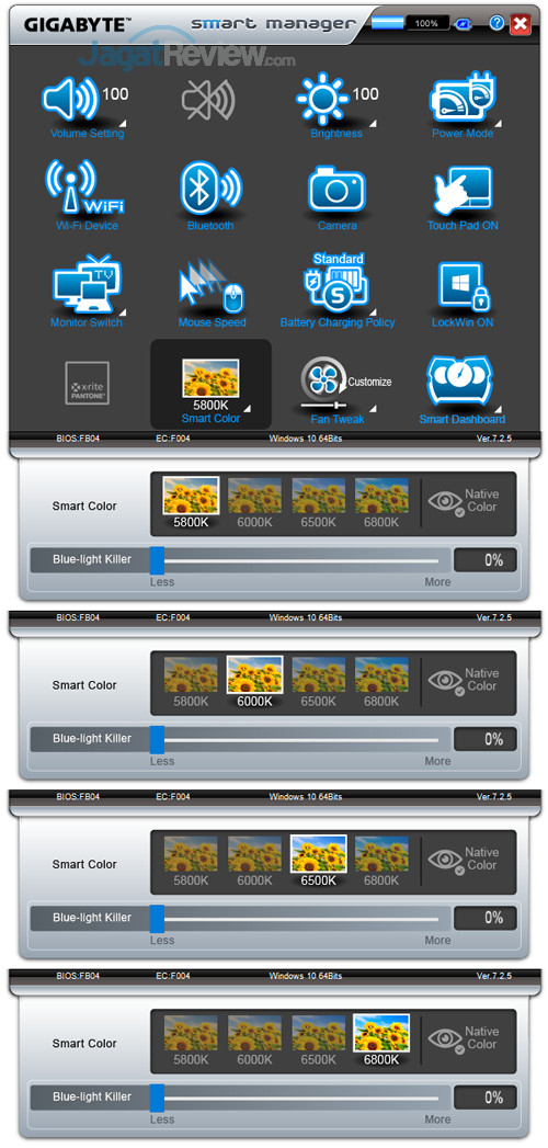 Gigabyte Aero 15X v8 Smart Manager 19