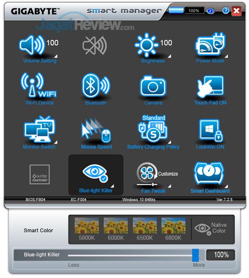 Gigabyte Aero 15X v8 Smart Manager 20