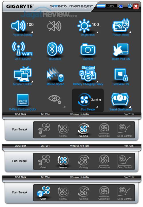 Gigabyte Aero 15X v8 Smart Manager 21