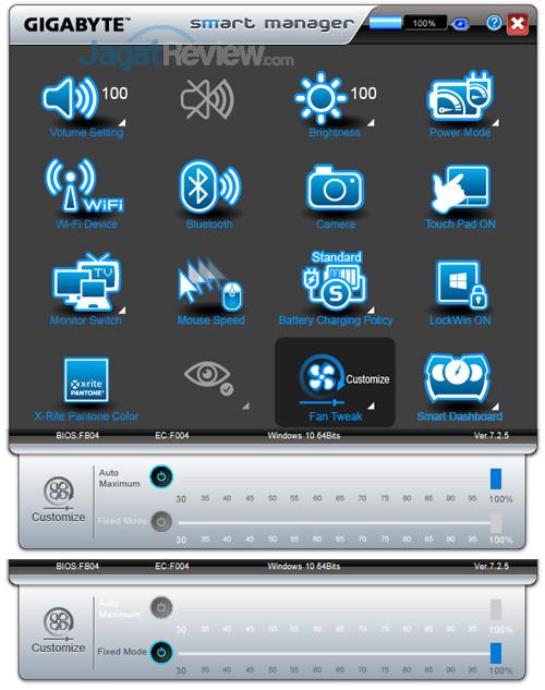 Gigabyte Aero 15X v8 Smart Manager 22