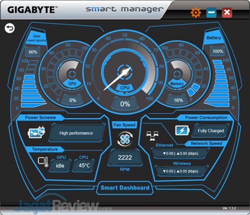Gigabyte Aero 15X v8 Smart Manager 25
